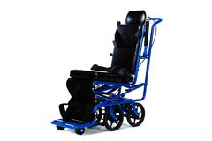 Wheelchair. Isolated wheelchair on a white background Royalty Free Stock Photography