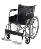 Wheelchair. Isolated on white background. clipping path included Stock Photos