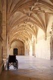 Wheelchair. At corridor inside the Jeronimos Monastery in Belem, Lisbon stock photography
