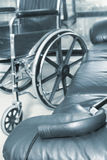 Wheelchair. And cane Stock Images
