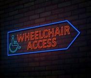 Wheelchair access concept. stock illustration