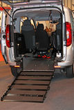 Wheelchair Access Ramp. A Wheelchair Access Ramp at the Rear of a Vehicle Stock Images