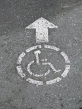 Wheelchair access sign Stock Photos