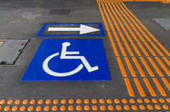 Wheelchair access sign Stock Image