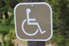Wheelchair access sign Royalty Free Stock Image