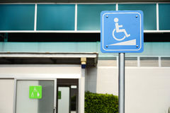 Wheelchair Access Signage , Disabled public toilets. Wheelchair Access Signage , Disabled public toilets Stock Photo
