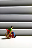 Wheelchair access stairs man figure B Royalty Free Stock Image