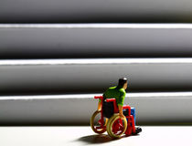 Wheelchair access stairs man figure C Royalty Free Stock Photo