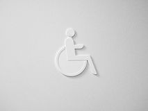 Wheelchair access in white Royalty Free Stock Photos
