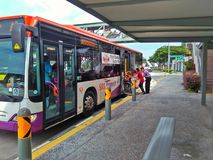Wheelchair accessible bus Royalty Free Stock Image
