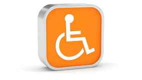 Wheelchair Accessible sign Royalty Free Stock Photos