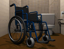 Wheelchair accessible toilet Stock Photo