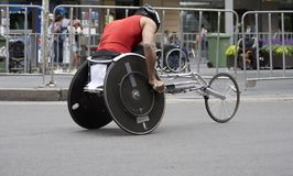 Wheelchair Athlete. Racing Royalty Free Stock Photos