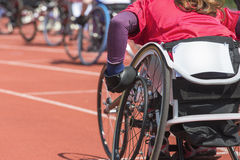 Wheelchair athlete stadium Stock Photography
