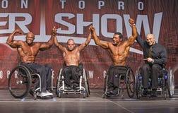 Wheelchair Athletes Pose in Toronto Stock Photos