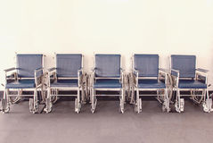 Wheelchair available Lined up in hospital Royalty Free Stock Photo