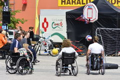 Wheelchair basketball Stock Image