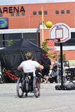 Wheelchair basketball Royalty Free Stock Images