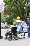 Wheelchair basketball Stock Images