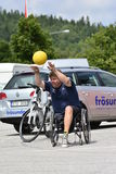 Wheelchair basketball Stock Photo