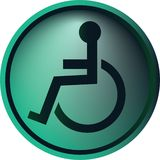Wheelchair button Royalty Free Stock Photography