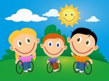 Wheelchair children Stock Image