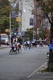 Wheelchair Competitors in New York City Marathon Stock Photography