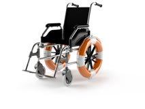 Wheelchair concept with buoys Stock Photos