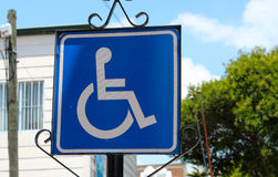 Wheelchair cross sign handicapped accessible Royalty Free Stock Image