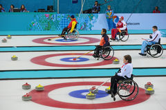 Wheelchair curling Stock Photography