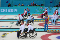 Wheelchair curling Stock Photos