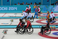 Wheelchair curling Royalty Free Stock Photos