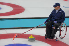 Wheelchair curling Royalty Free Stock Images