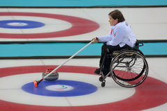 Wheelchair curling Stock Image