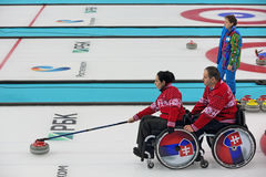 Wheelchair curling Royalty Free Stock Image