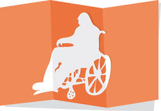 Wheelchair cutout Stock Images
