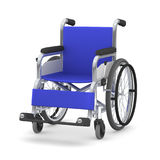 Wheelchair, 3D illustration. Blue seated wheelchair. 3D illustration Stock Image