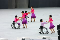 Wheelchair dancers Stock Images