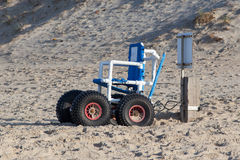 Wheelchair designed specifically for use on the Sea Beach Royalty Free Stock Photography