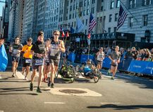 Wheelchair division participants during Annual New York City Mar royalty free stock images