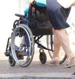 Wheelchair elderly Royalty Free Stock Image