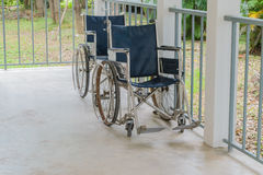 Wheelchair empty in hospital Stock Image