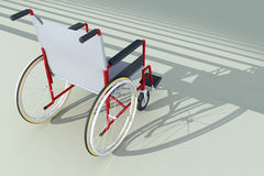 Wheelchair in front of stairs Stock Photography