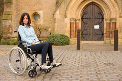 Wheelchair girl Stock Photos