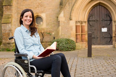 Wheelchair girl Royalty Free Stock Photos