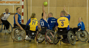 Wheelchair Handball Event 2008 Stock Images