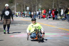 Wheelchair and Handcycle Racers participated in th Stock Photos