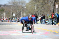 Wheelchair and Handcycle Racers participated in th Royalty Free Stock Photos