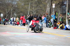 Wheelchair and Handcycle Racers participated in th Royalty Free Stock Photo