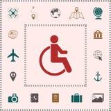 Wheelchair handicap icon . Elements for your design vector illustration